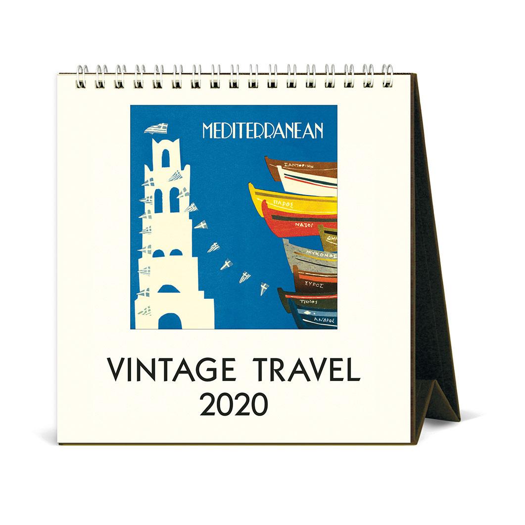 ヴィンテージトラベル デスクカレンダー 2020