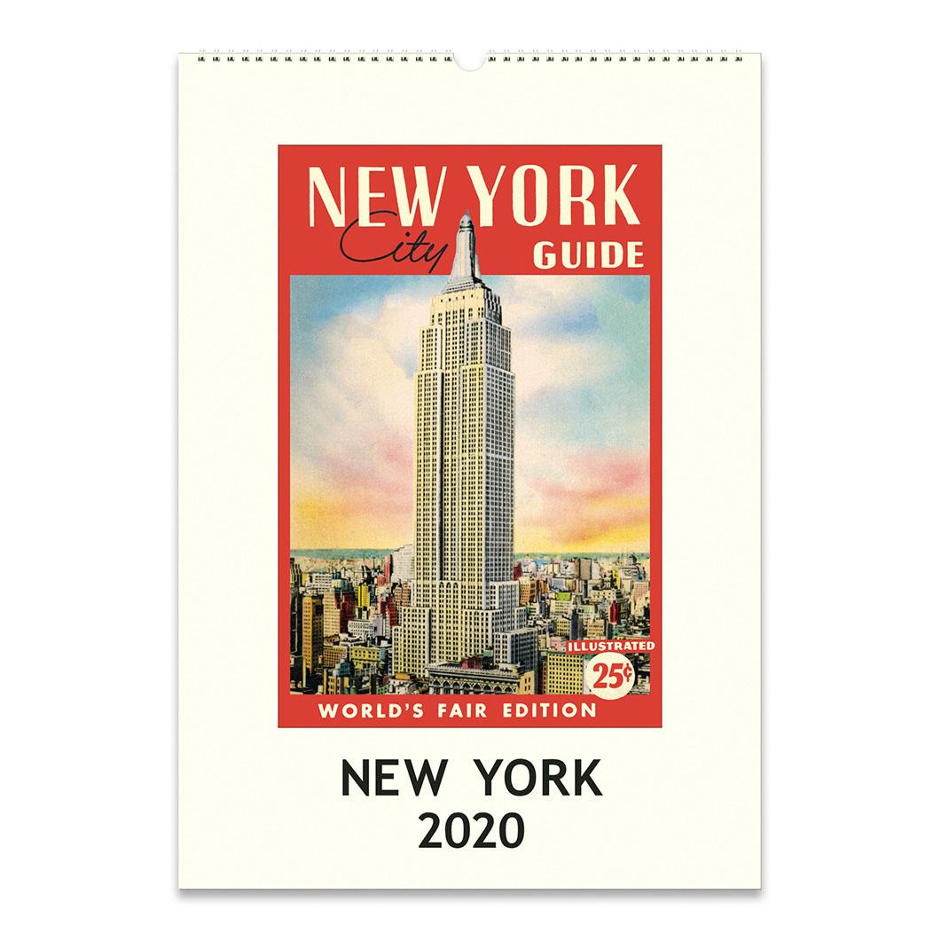 ニューヨーク ウォールカレンダー 2020