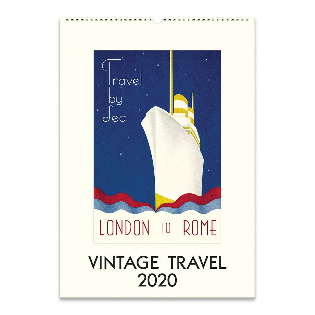ヴィンテージトラベル ウォールカレンダー 2020