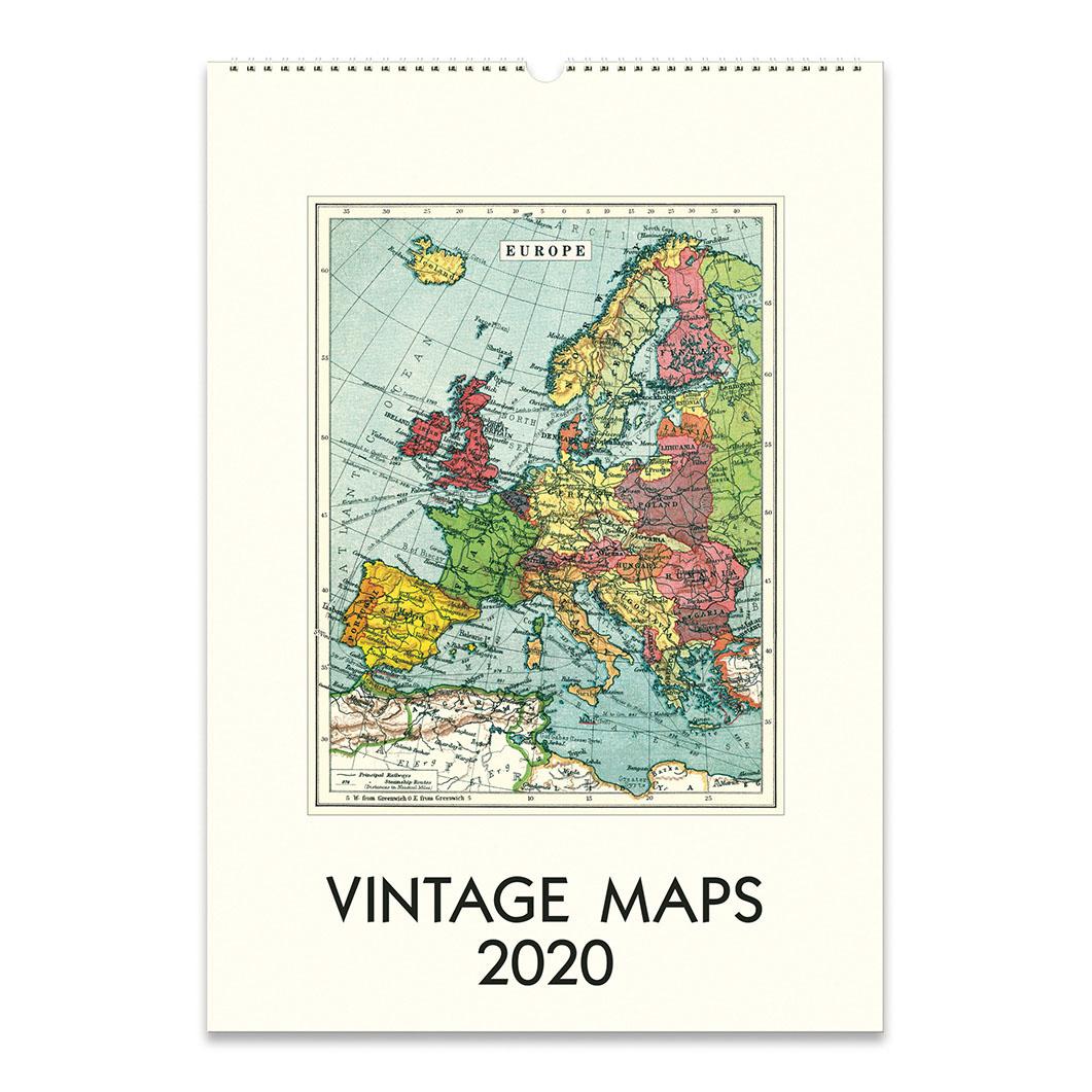 ヴィンテージマップ ウォールカレンダー 2020