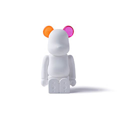 BE@RBRICK AROMA ORNAMENT No.0 COLOR W‐DOUBLE‐ ORANGE PINK