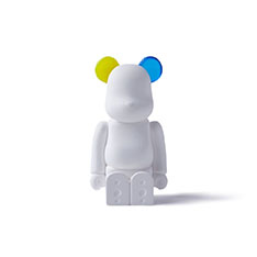 BE@RBRICK AROMA ORNAMENT No.0 COLOR W‐DOUBLE‐ YELLOW BLUE