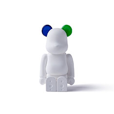 BE@RBRICK AROMA ORNAMENT No.0 COLOR W‐DOUBLE‐ NAVY GREEN